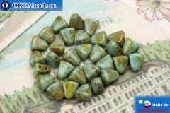 NIB-BIT Beads turquoise travertin (T63030) 6x5mm, 30pc