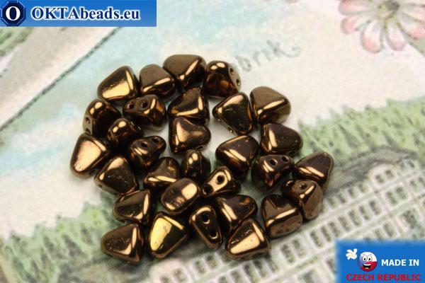 Бусины NIB-BIT бронза (LZ23980) 6х5мм, 30шт MK0376
