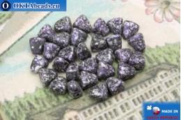 NIB-BIT Beads black lilac silver (45710JT) 6x5mm, 30pc MK0386