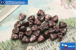 NIB-BIT Beads black red silver (45705JT) 6x5mm, 30pc MK0382