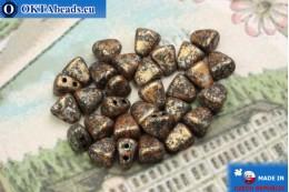NIB-BIT Beads black orange silver (45709JT) 6x5mm, 30pc MK0385