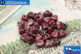 NIB-BIT Beads black pink silver (45708JT) 6x5mm, 30pc MK0384