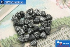 NIB-BIT Beads black silver matte (45702JT) 6x5mm, 30pc