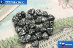 NIB-BIT Beads black silver matte (45702JT) 6x5mm, 30pc MK0381