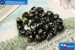 NIB-BIT Beads black travertin (T23980) 6x5mm, 30pc MK0378