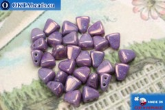 Бусины NIB-BIT фиолетовые глянцевые (LE03000) 6х5мм, 30шт