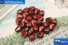 NIB-BIT Beads red travertin (TP93200) 6x5mm, 30pc
