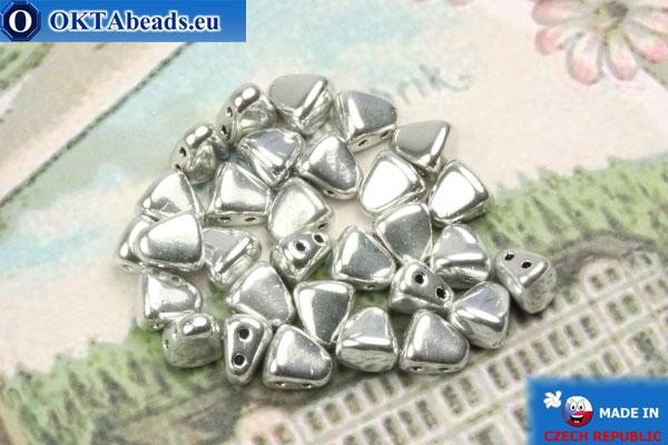 Бусины NIB-BIT серебро (27000CR) 6х5мм, 30шт MK0380