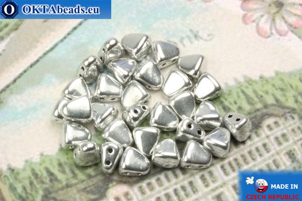 NIB-BIT Beads silver (27000CR) 6x5mm, 30pc