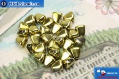 Бусины NIB-BIT золото (26440CR) 6х5мм, 30шт