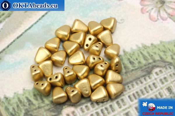 Бусины NIB-BIT золото матовые (K0171) 6х5мм, 30шт MK0365