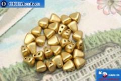 NIB-BIT Beads gold matte (K0171) 6x5mm, 30pc