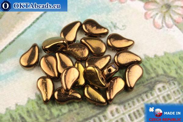 Бусины Пейсли бронза (23980/14415) 8х5мм, 20шт MK0580