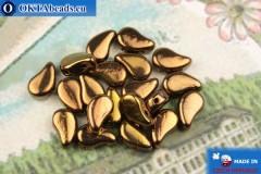 Korálky Paisley bronz (23980/14415) 8x5mm, 20ks MK0580