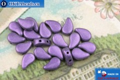 Paisley Beads lilac metallic matte (23980/79021) 8x5mm, 20pc
