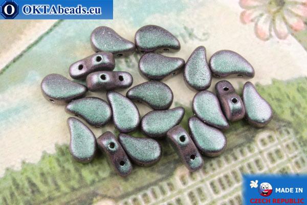 Бусины Пейсли фиолетовые металлик матовые (23980/94102) 8х5мм, 20шт MK0587