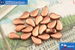 Paisley Beads copper matte (00030/01780) 8x5mm, 20pc