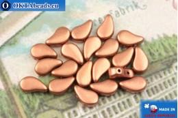 Korálky Paisley měď matný (00030/01780) 8x5mm, 20ks MK0573