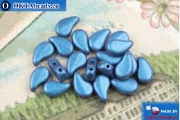 Бусины Пейсли синие металлик матовые (23980/79031) 8х5мм, 20шт