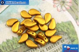 Korálky Paisley zlato matný (00030/01740) 8x5mm, 20ks MK0571