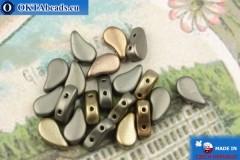 Бусины Пейсли ирис серые матовые (00030/01670) 8х5мм, 20шт, MK0568