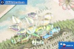 Бусины Пейсли кристалл радужные (00030/28701) 8х5мм, 20шт, MK0574