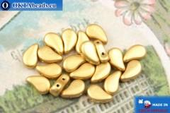 Бусины Пейсли золото матовые (00030/01710) 8х5мм, 20шт, MK0570