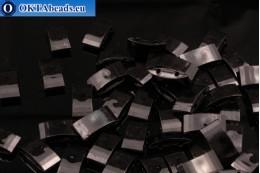Plastic beads 2 holes black 17x9x5mm, 10pc CHP0003