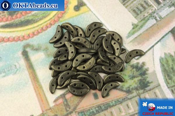 Бусины Полумесяц бронза металлик матовый (79082MJT) 3х10мм, 5гр MK0436