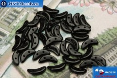 Crescent Beads black (23980) 3x10mm, 5g