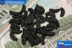 Crescent Beads black matte (M23980) 3x10mm, 5g