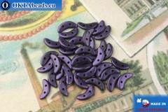 Бусины Полумесяц фиолетовый металлик матовый (79021MJT) 3х10мм, 5гр