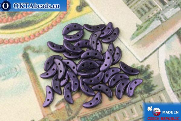 Бусины Полумесяц фиолетовый металлик матовый (79021MJT) 3х10мм, 5гр MK0437
