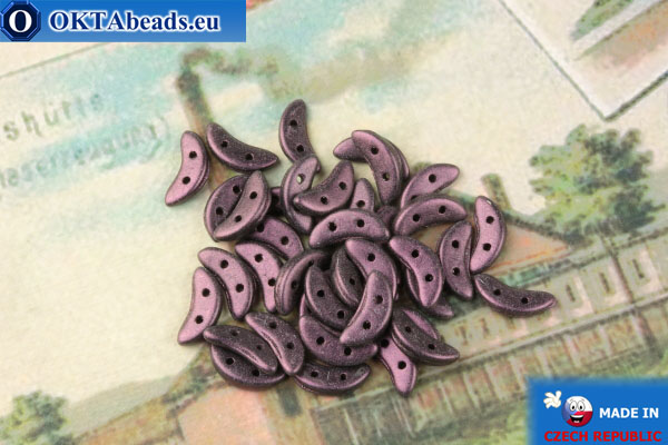 Бусины Полумесяц фиолетовый металлик матовый (79086MJT) 3х10мм, 5гр MK0428