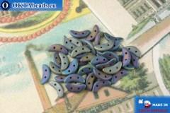 Бусины Полумесяц фиолетовый ирис матовый (21135JT) 3х10мм, 5гр, MK0434