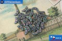 Бусины Полумесяц ирис матовый (21195JT) 3х10мм, 5гр, MK0423