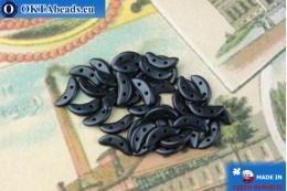 Crescent Beads cobalt metallic matte (79032MJT) 3x10mm, 5g