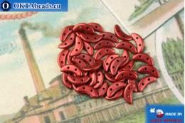 Crescent Beads red metallic matte (K0189) 3x10mm, 5g
