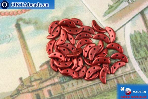 Crescent Beads red metallic matte (K0189) 3x10mm, 5g MK0430