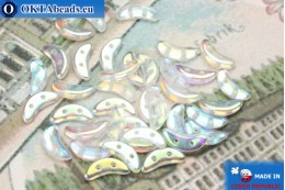 Crescent Beads crystal AB (X00030) 3x10mm, 5g