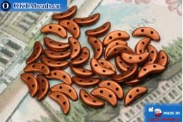 Crescent Beads copper matte (K0175) 3x10mm, 5g