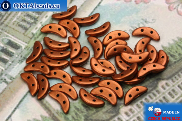 Crescent Beads copper matte (K0175) 3x10mm, 5g MK0221