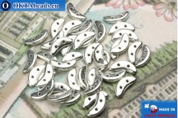 Crescent Beads silver (S00030) 3x10mm, 5g