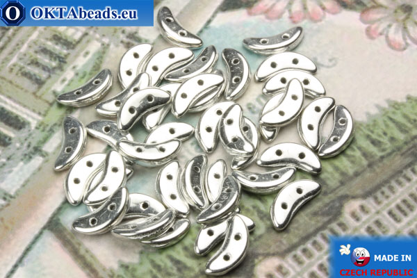 Crescent Beads silver (S00030) 3x10mm, 5g MK0223