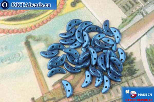 Бусины Полумесяц синий металлик матовый (79031MJT) 3х10мм, 5гр MK0433