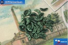 Crescent Korálky zelený metalíza matný (79051MJT) 3x10mm, 5g MK0424