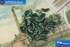 Бусины Полумесяц зеленый металлик матовый (79051MJT) 3х10мм, 5гр, MK0424