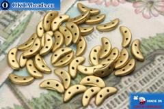 Crescent Beads gold matte (K0171) 3x10mm, 5g
