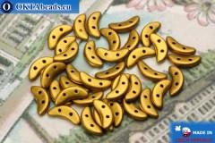 Crescent Beads gold matte (K0174) 3x10mm, 5g