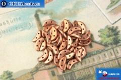 Crescent Beads gold matte (K0178) 3x10mm, 5g
